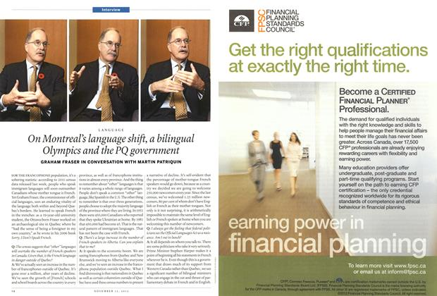 Article Preview: On Montreal's language shift, a bilingual Olympics and the PQ government, November 2012 | Maclean's
