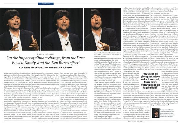 Article Preview: On the impact of climate change, from the Dust Bowl to Sandy, and the 'Ken Burns effect', November 2012 | Maclean's