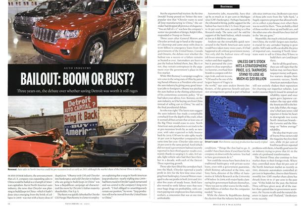 Article Preview: BAILOUT: BOOM OR BUST?, November 2012 | Maclean's