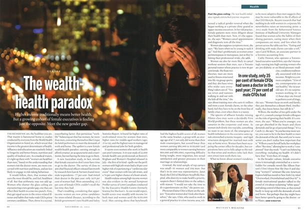 Article Preview: The wealthhealth paradox, November 2012 | Maclean's