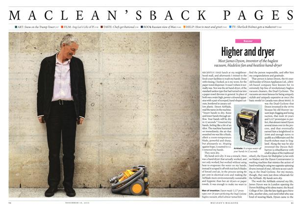 Article Preview: Higher and dryer, November 2012 | Maclean's