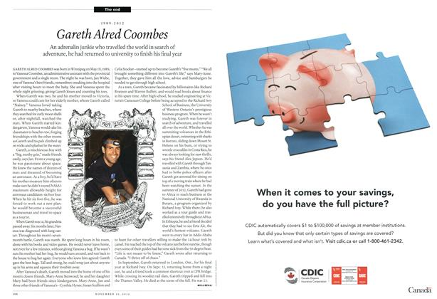 Article Preview: 1989-2012 Gareth Aired Coombes, November 2012 | Maclean's