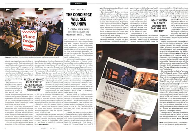 Article Preview: THE CONCIERGE WILL SEE YOU NOW, November 2012 | Maclean's