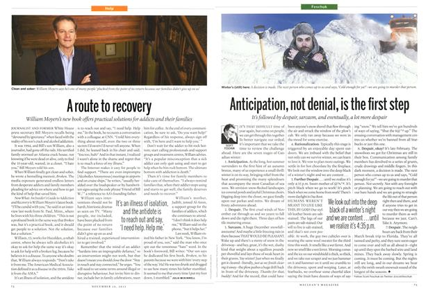 Article Preview: A route to recovery, November 2012 | Maclean's