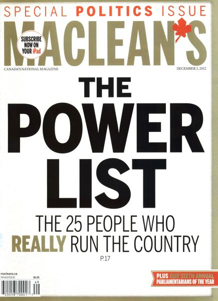 Issue: - December 2012 | Maclean's