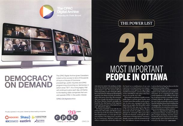 Article Preview: 25 MOST IMPORTENT PEOPLE IN OTTAWA, December 2012 | Maclean's