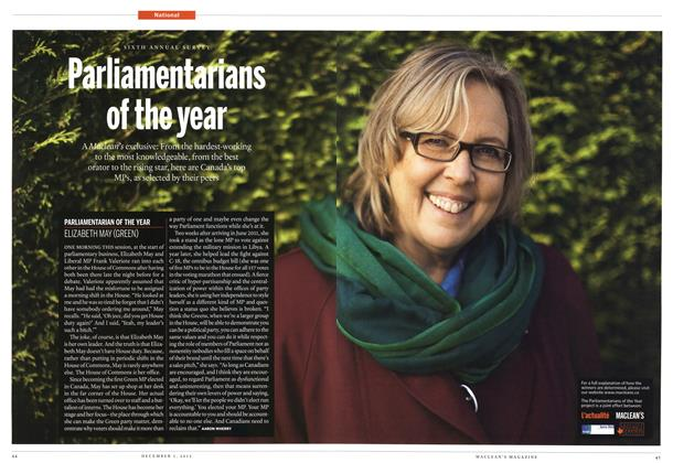 Article Preview: Parlimentarians of the year, December 2012 | Maclean's