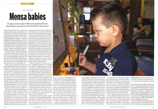 Article Preview: Mensa babies, December 2012 | Maclean's