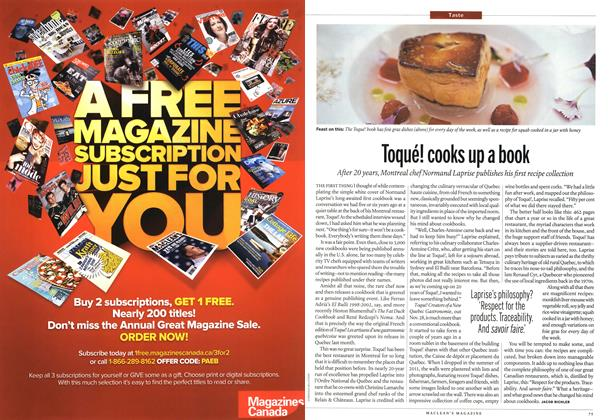 Article Preview: Toqué! cooks up a book, December 2012 | Maclean's