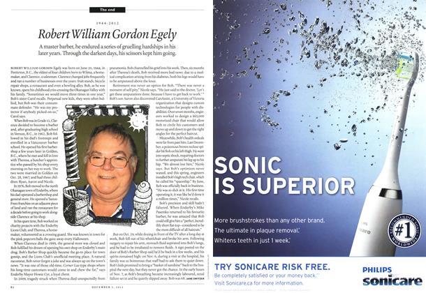Article Preview: 1944-2012 Robert William Gordon Egely, December 2012 | Maclean's