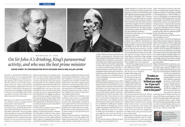 Article Preview: On Sir John A's drinking,King's paranormal activity, and who was the best prime minister, December 2012 | Maclean's