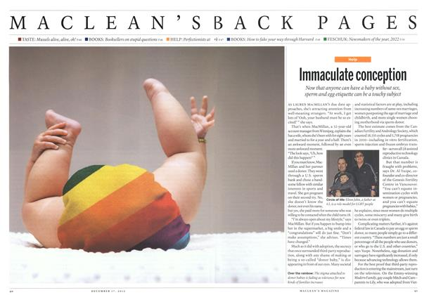 Article Preview: Immaculate conception, DECEMBER 10 & 17, 2012 2012 | Maclean's