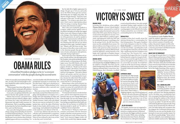 Article Preview: OBAMA RULES, DECEMBER 10 & 17, 2012 2012 | Maclean's