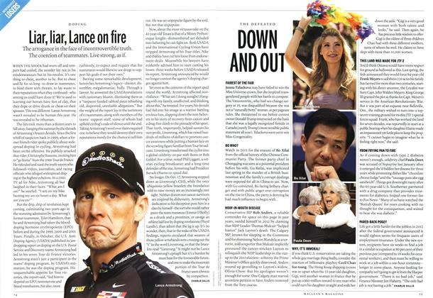 Article Preview: Liar, liar, Lance on fire, DECEMBER 10 & 17, 2012 2012 | Maclean's