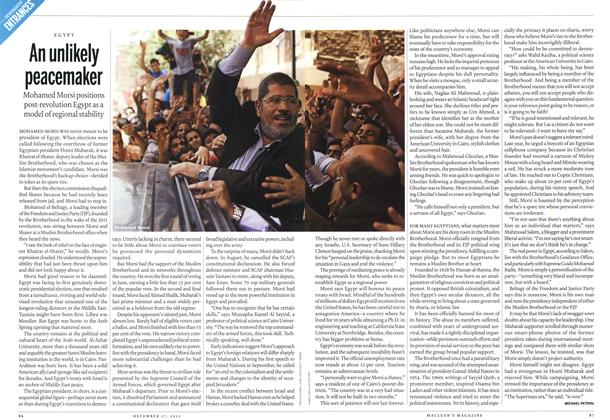 Article Preview: An unlikely peacemaker, DECEMBER 10 & 17, 2012 2012 | Maclean's