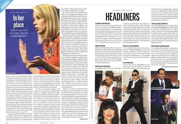 Article Preview: HEADLINERS, DECEMBER 10 & 17, 2012 2012 | Maclean's