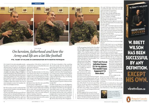 Article Preview: On heroism, fatherhood and how the Army and life are a lot like football, DECEMBER 10 & 17, 2012 2012 | Maclean's