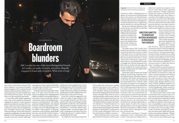 Article Preview: Boardroom blunders, December 2012 | Maclean's