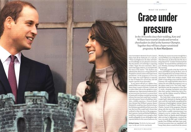 Article Preview: Grace under pressure, December 2012 | Maclean's
