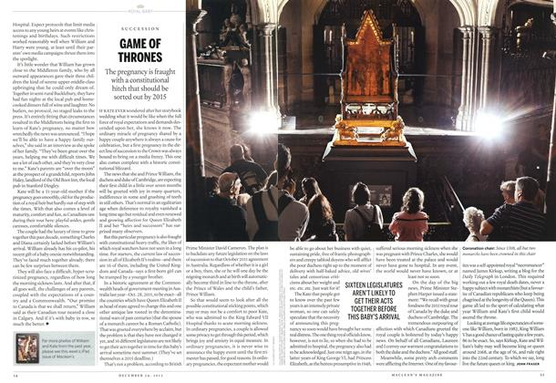 Article Preview: GAME OF THRONES, December 2012 | Maclean's