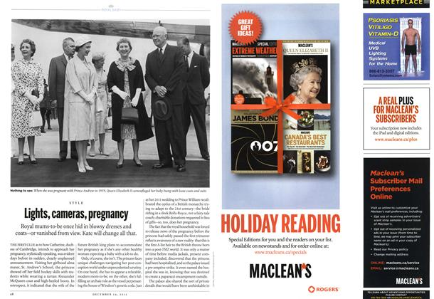 Article Preview: Lights, cameras, pregnancy, December 2012 | Maclean's