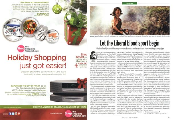 Article Preview: Let the Liberal blood sport begin, December 2012 | Maclean's