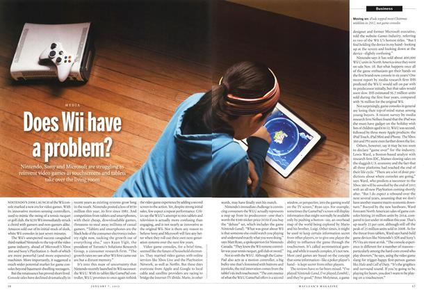 Article Preview: Does Wii have a problem?, January 2012 | Maclean's