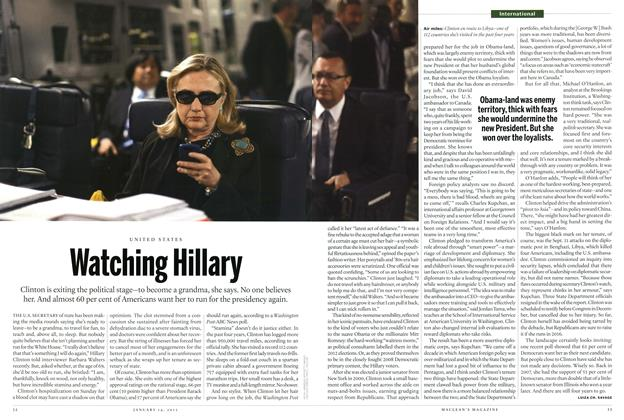 Article Preview: Watching Hillary, January 2013 | Maclean's