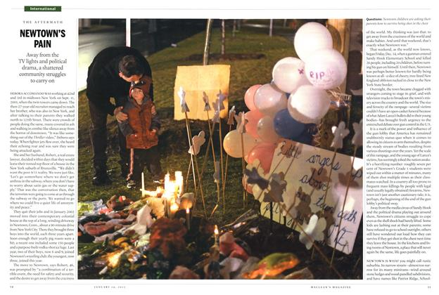 Article Preview: NEWTOWN'S PAIN, January 2013 | Maclean's