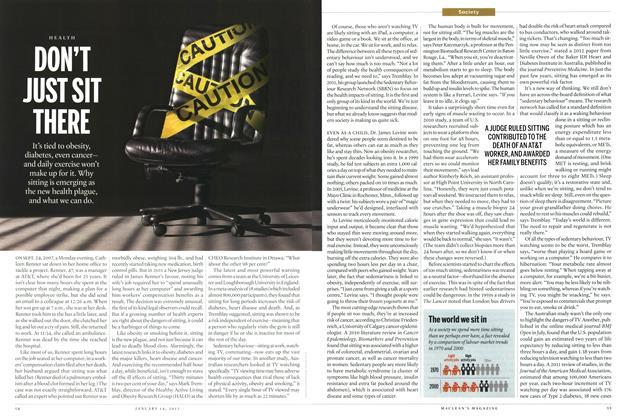 Article Preview: DON'T JUST SIT THERE, January 2013 | Maclean's