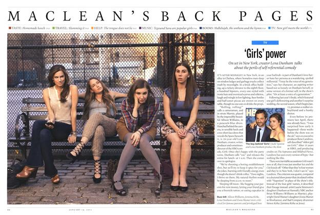 Article Preview: 'Girls' power, January 2013 | Maclean's