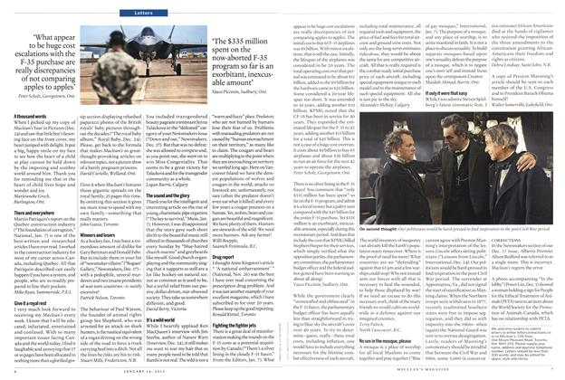 Article Preview: Letters, January 2013 | Maclean's