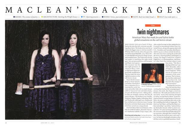 Article Preview: Twin nightmares, JANUARY 21,2013 2013 | Maclean's