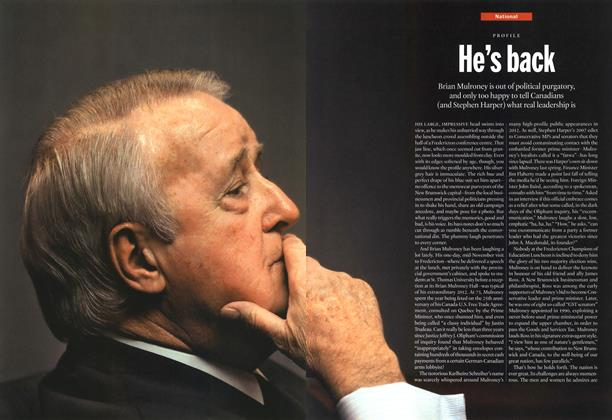 Article Preview: He's back, January 2013 | Maclean's