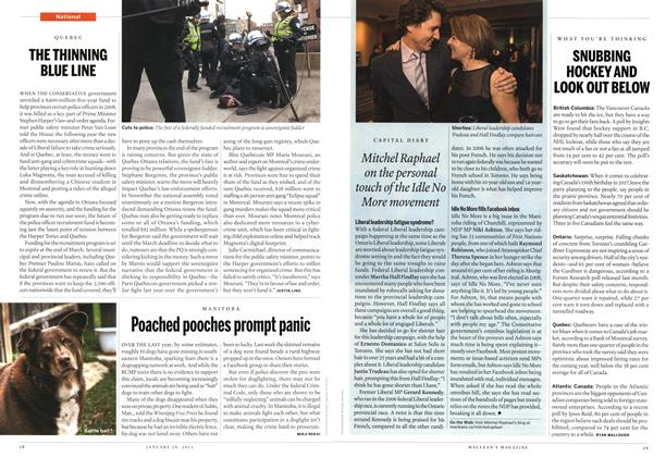 Article Preview: THE THINNING BLUE LINE, January 2013 | Maclean's