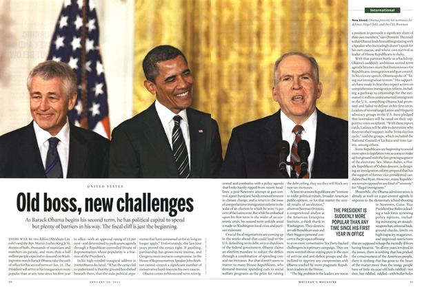 Article Preview: Old boss, new challenges, January 2013 | Maclean's