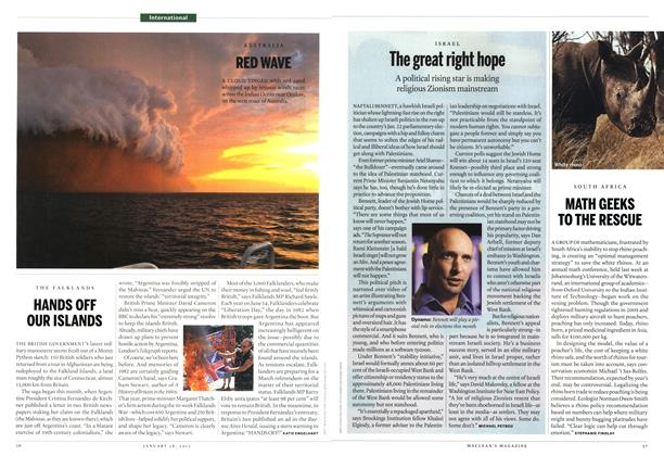 Article Preview: The great right hope, January 2013 | Maclean's