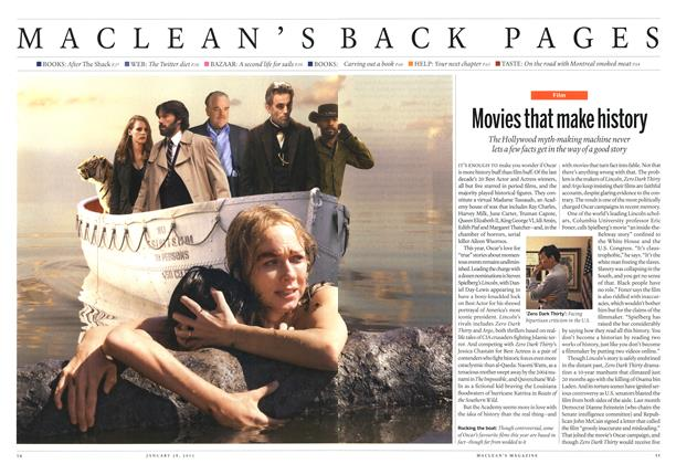 Article Preview: Movies that make history, January 2013 | Maclean's