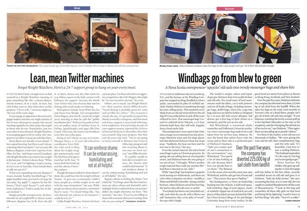 Article Preview: Lean, mean Twitter machines, January 2013 | Maclean's