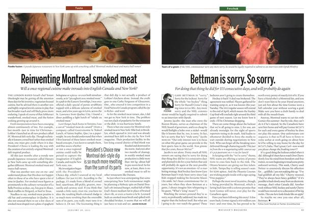 Article Preview: Reinventing Montreal smoked meat, January 2013 | Maclean's