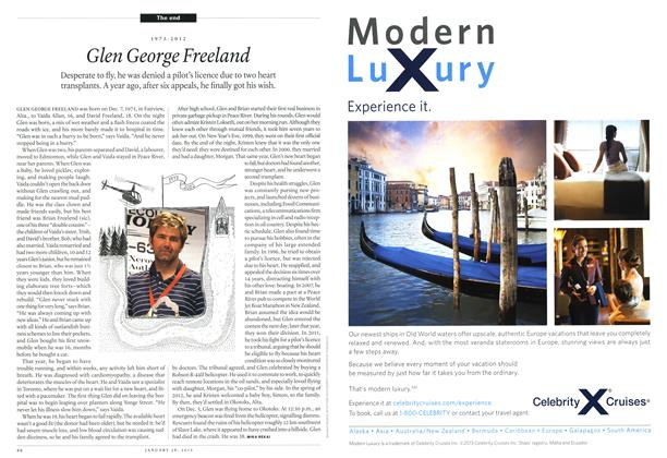 Article Preview: 1973-2012 Glen George Freeland, January 2013 | Maclean's