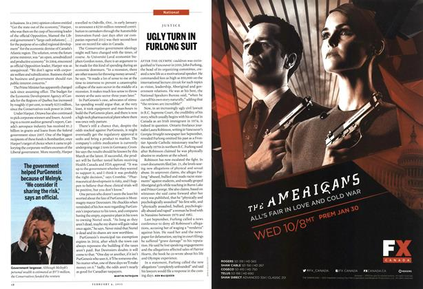 Article Preview: UGLY TURN IN FURLONG SUIT, February 2013 | Maclean's