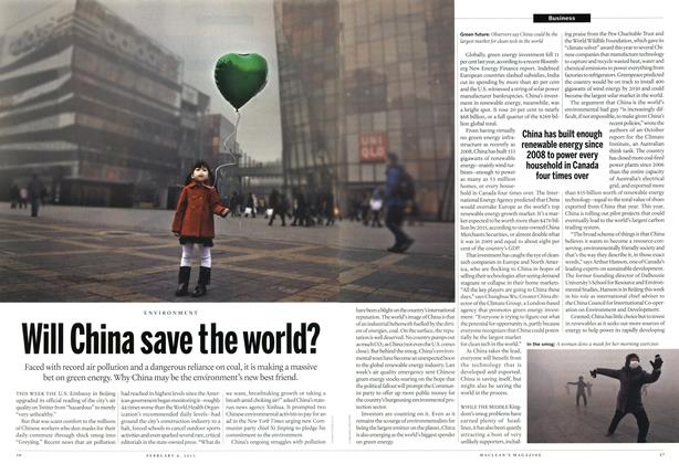 Article Preview: Will China save the world?, February 2013 | Maclean's