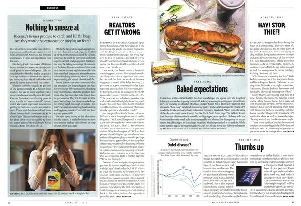 Article Preview: Thumbs up, February 2013 | Maclean's