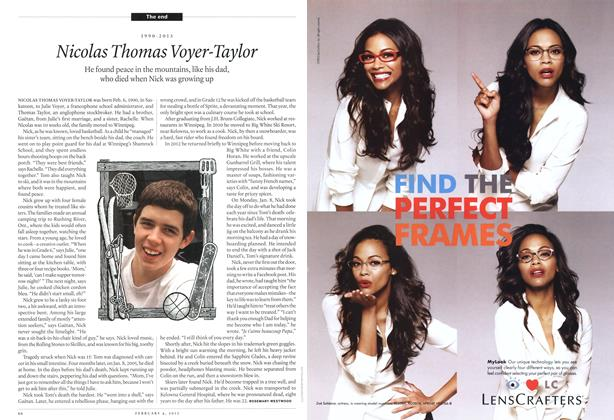 Article Preview: Nicolas Thomas Voyer-Taylor, February 2013 | Maclean's