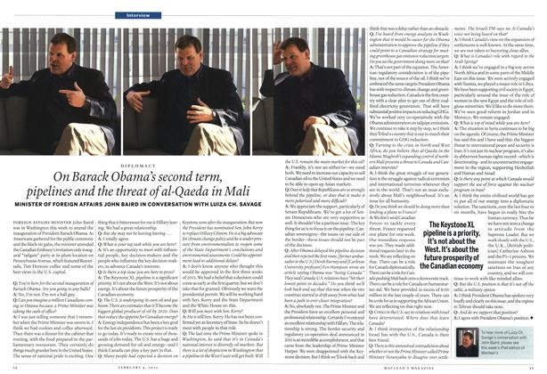 Article Preview: On Barack Obama's second term, pipelines and the threat of al-Qaeda in Mali, February 2013 | Maclean's