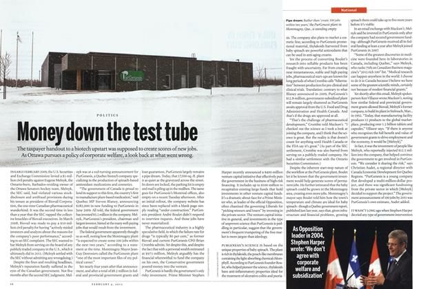 Article Preview: Money down the test tube, February 2013 | Maclean's