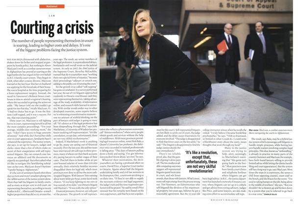Article Preview: Courting a crisis, February 2013 | Maclean's