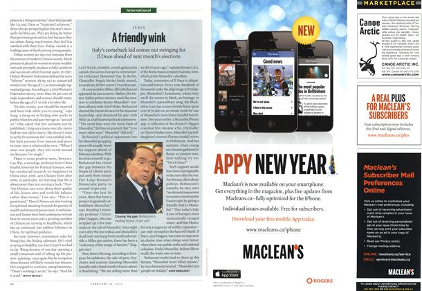 Article Preview: A friendly wink, February 2013 | Maclean's