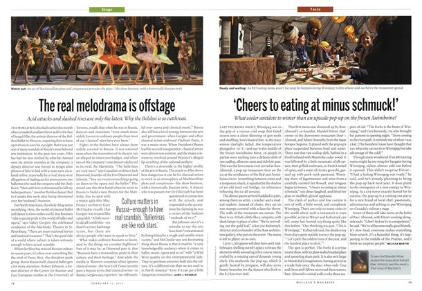 Article Preview: The real melodrama is offstage, February 2013 | Maclean's